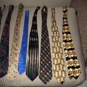 11 100% silk men's designer brand ties